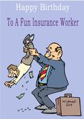 Insurance Worker - Greeting Card